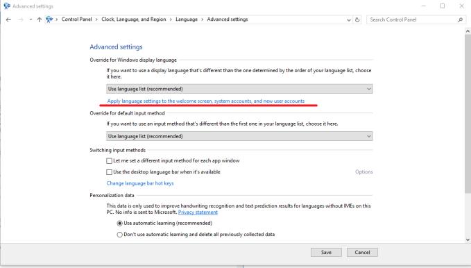 windows 10 jazyk nastavenie