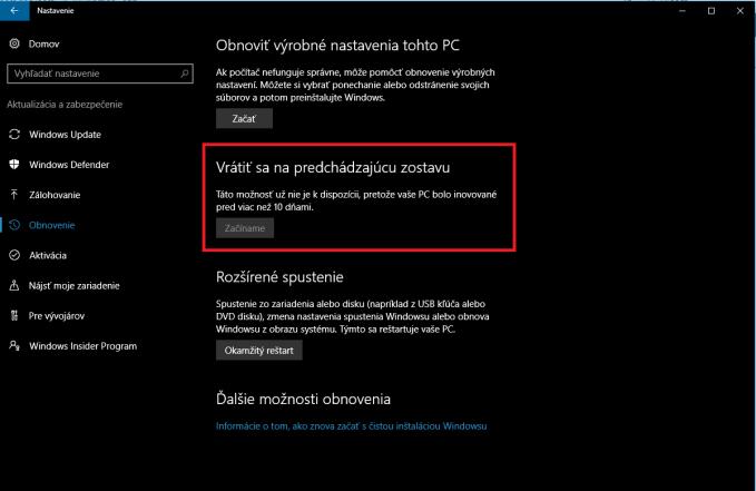 Windows 10 mrzne