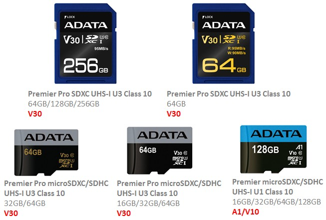 ADATA Memory Cards