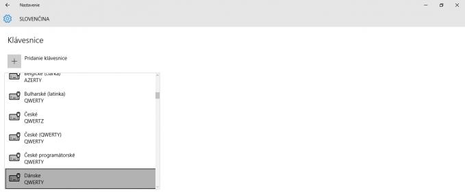 windows 10 nastavenie jazyk klavesnice